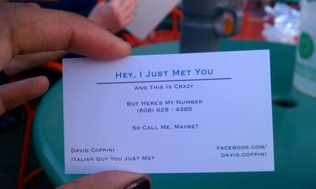 The Call Me Maybe Business Card 94KX