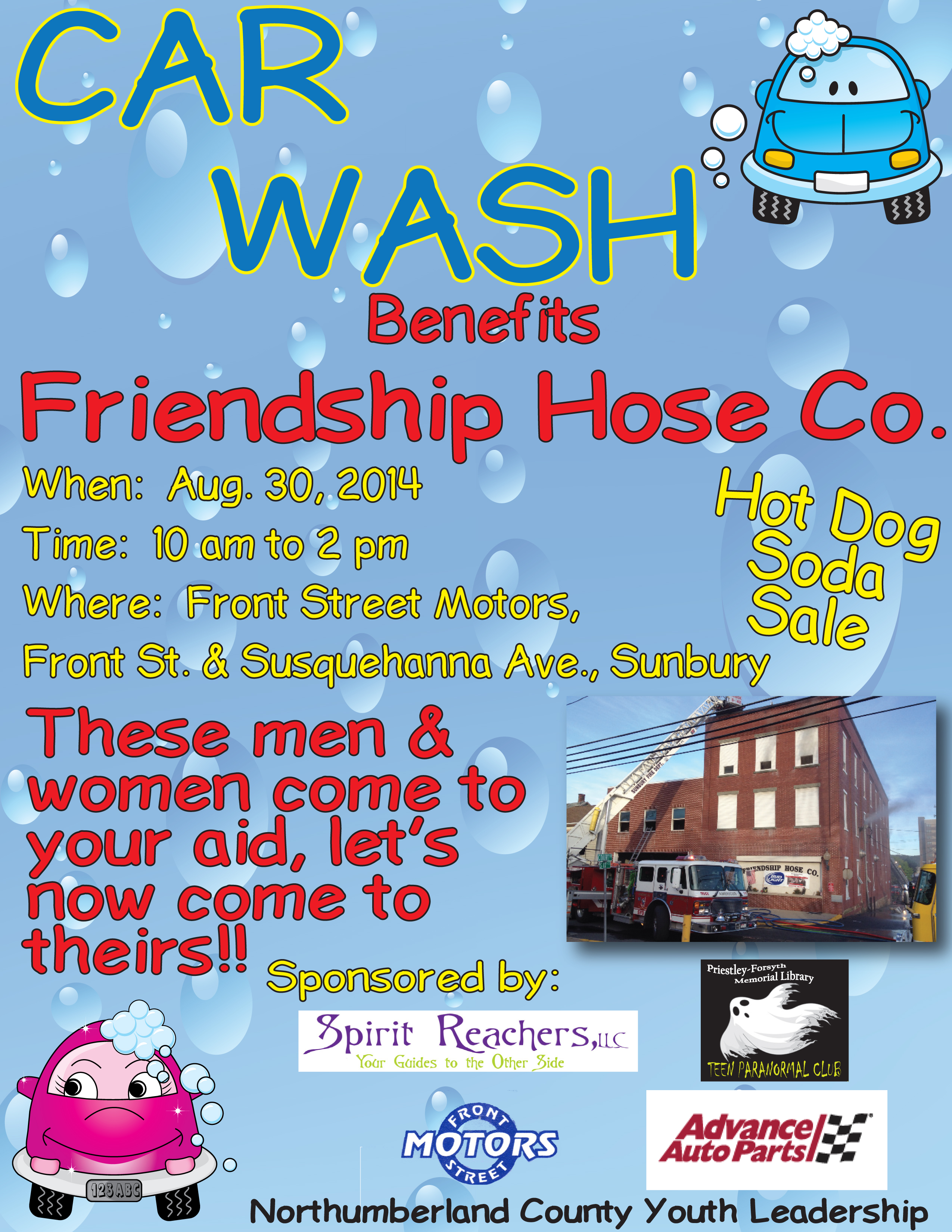 Friendship Hose Co. Fundraiser @ Front Street Motors