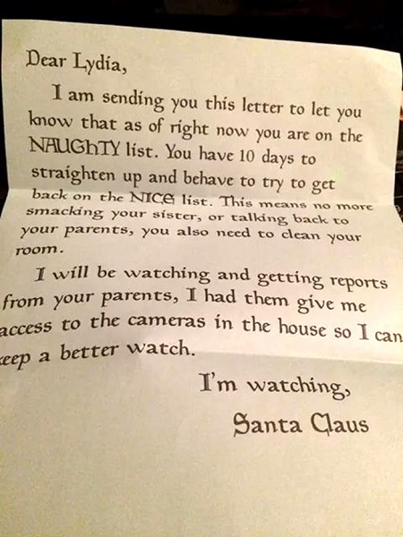 Naughty kid gets letter from santa 94kx santa spiritdancerdesigns Images