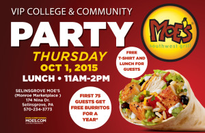 Community Party at Moe's