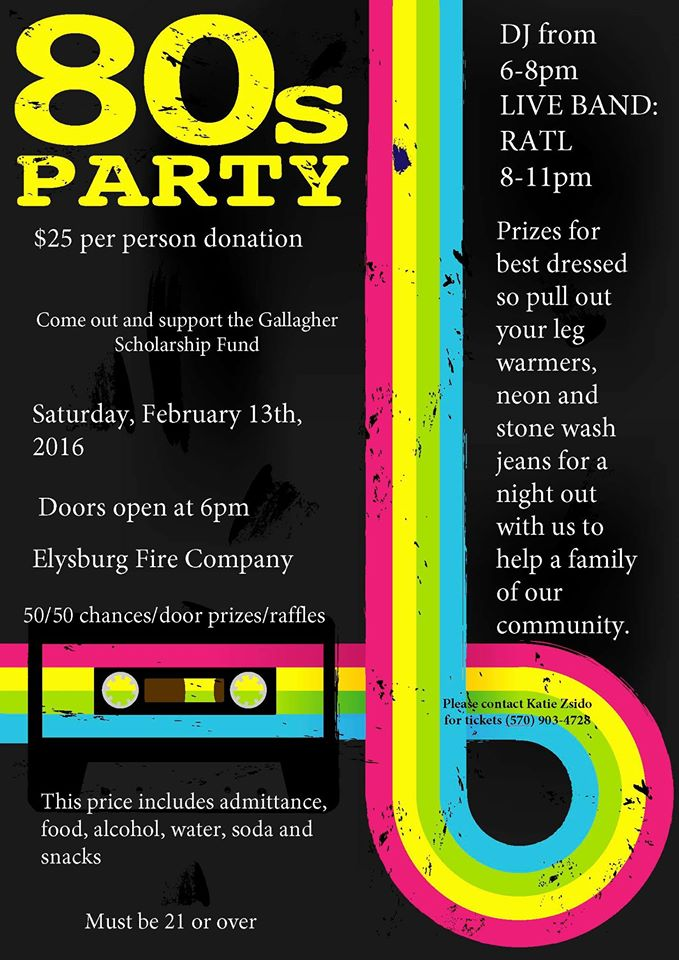 80s Party Benefit @  |  |