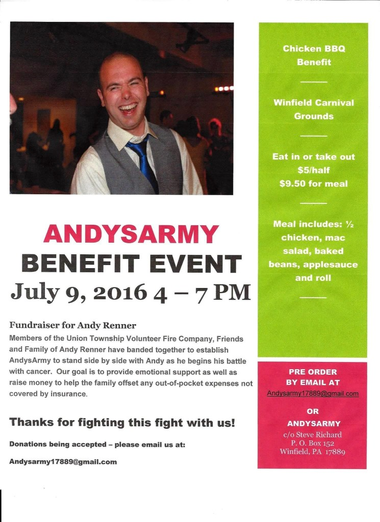 Chicken BBQ Benefit for Andy Renner