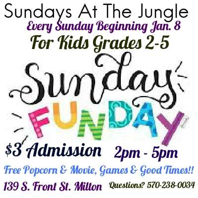 Jungle Teen Center Sunday FunDay for Grades 2-5